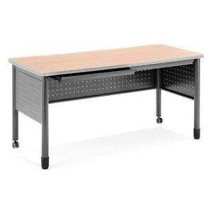 Ofm Mesa Series Model 66150 Steel Training Table And Desk With Pencil