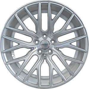 4 Gwg Wheels 18 Inch Silver Flare Rims Fits Acura Tl Type S Except Brembo 07 08
