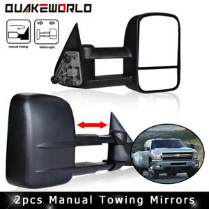 For 2003 2006 Chevy Silverado Sierra Power Heated Signal Tow Mirrors Pair Set