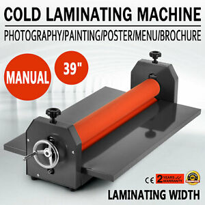 39 Laminating Manual Mount Machine Cold Photo Vinyl Film Laminator Document Book