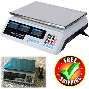 Digital Weight Scale 66lb Food Meat Restaurant Market Price Postal Computing