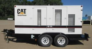 Xq125 Caterpillar Rental Generator Trailer Mounted Cat Genset 3 744 Hours