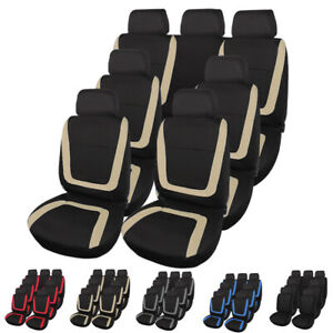 3 Row 7 Seat Seat Covers For Sedan Suv Van With Headrest Cover Universal Fitment
