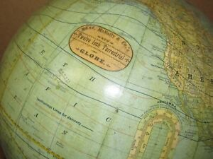 Vintage Antique Rand Mcnally 12 Terrestrial Globe Wood Base J855