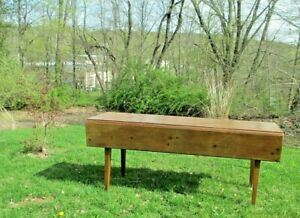 Harvest Table Drop Leaf Vtg 6 Feet Long Tapered Legs Delivery Is Available