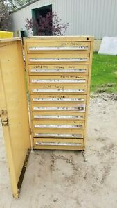 Stanley Vidmar 11 Drawer Industrial Tooling Cabinet W swing Dr Cover 30 x30 x60