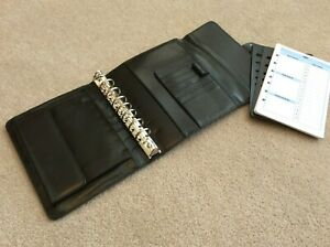 Classic 1 25 Blk Leather Unstructured Franklin Covey Flap Open Planner Binder