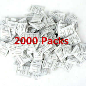 2000 Pack Silica Gel Packet Desiccant Non toxic Absorb Moisture Beads Bags Hot