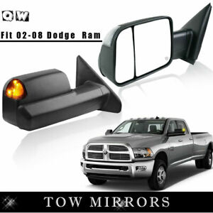 For 02 08 Dodge Ram 1500 2500 3500 Tow Power Heat Mirrors Left Right