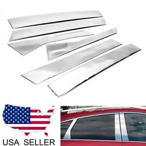 For 2010 2016 Cadillac Srx Stainless Steel Chrome Pillar Post Trim Cover
