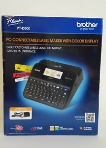 Brother P touch Pt d600 Pc connectable Label Maker W Color Display