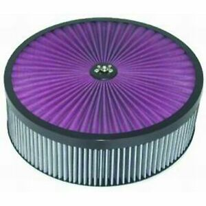 Racing Power Rpc R2409x Air Filter Assembly Black 14x4 Round Super Flow