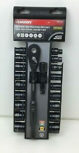 Husky 20 piece 100 position Ratchet Universal Socket Set 1001381684