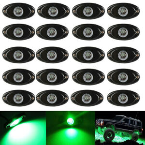 20x 9w Cree Led Rock Lights Bar Green For Jeep Atv Suv Off Road Car Truck Boat