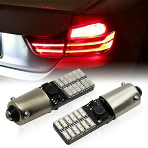 2x Can Bus Red Led Bulbs For Bmw F22 F30 F32 3 4 Series Tail Brake Stop Lights