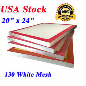 Usa 6pack 20 X 24 Aluminum Silk Screen Printing Frame With 130 White Mesh