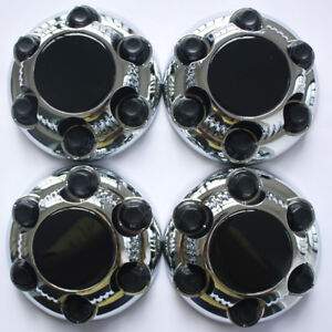 4pcs Gmc Chevy Silverado Sierra Chrome Wheel Center Hub Caps 6 Lug 16 17 Wheel
