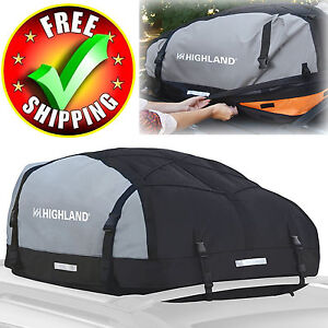 Waterproof Car Top Bag Roof Large Carrier Storage Travel Luggage Cargo Box New