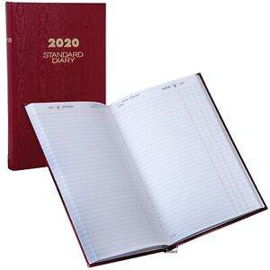 2020 At a glance Sd377 Red Standard Diary Daily Journal 7 7 8 X 12 1 2