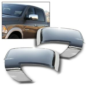 For 2009 2012 Dodge Ram Chrome Mirror Covers W Turn Signal Not For Tow Mirror