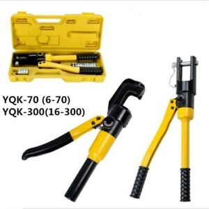 16ton Us Terminal Crimper Hydraulic Wire Battery Cable Lug Crimping Tool W dies