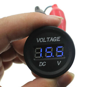 12v Waterproof Car Motorcycle Blue Led Digital Display Voltmeter Volt Sales