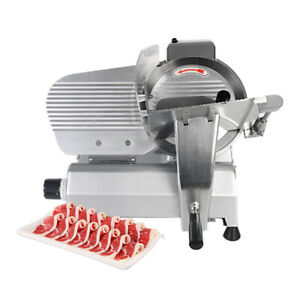 Commercial 240w Electric Meat Slicer Cutter 10 Semi automatic Cutting Machine