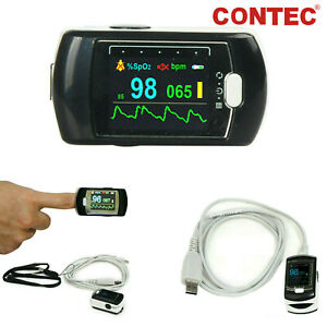 Rechargeable Finger Pulse Oximeter Spo2 pr Blood Oxygen Monitor Alarm Software