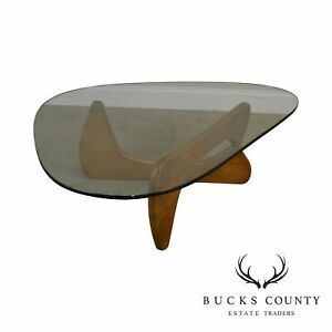 Noguchi Style Glass Top Modern Design Coffee Table