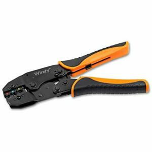 Crimping Tool For Insulated Electrical Connectors Ratcheting Wire Crimper By