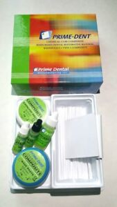 Prime Dent Dental Chemical Self Cure Composite Kit 15gm 15gm Bonding Exp 2021
