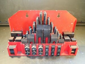 58 piece Mill Milling Hold Down Set 1 2 13 Bolt Size For 5 8 T slot Tables