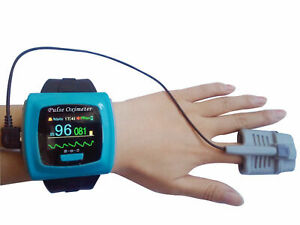 Contec Cms50f Wrist Pulse Oximeter Daily Overnight 24h Record Oled Pc Sw Fda