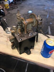 Antique Hills Mccanna Ratchet Mechanical Lubricator Hit Miss Steam Engine Oiler
