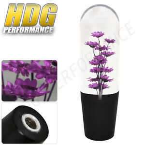 Universal Vip Jdm Poly Shifter Shift Knob 150mm Purple Flower Filled Transparent