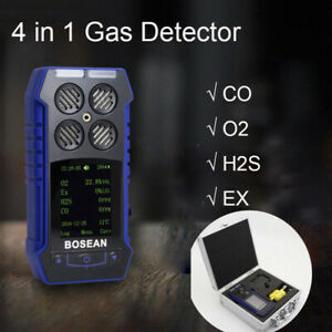 Multi Gas Detector Monitor 4in1 O2 H2s Co Oxygen Combustible Gas Meter Analyzer