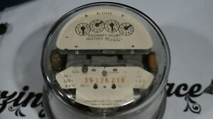 Sangamo Form 6s Watthour Meter Type S5s 4w Wye 3 Phase Analog Potential Light E