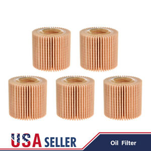 Set Of 5 For Toyota Corolla Prius Scion Im Xd Engine Oil Filter Oem 04152 Yzza6