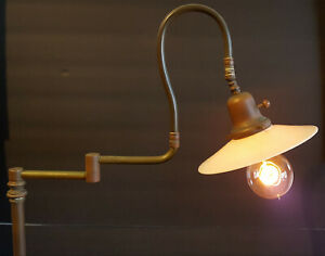 Antique Light Fixture Gunnar Adolfson And Faries Oc White Era Copper Floor Lamp