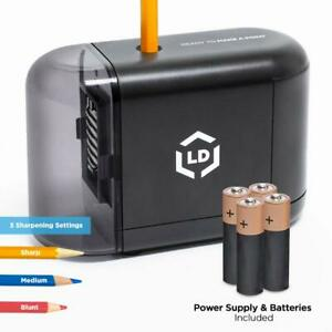 Ld Products Electric Pencil Sharpener Batteries Wall Power Supply Included