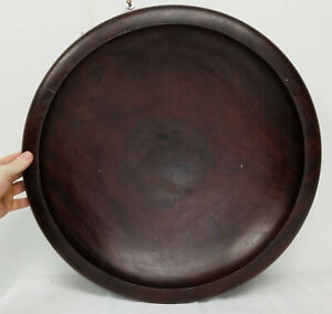 Massive Antique Burlwood Carved Turned Mid Century Modern Bowl Decorative