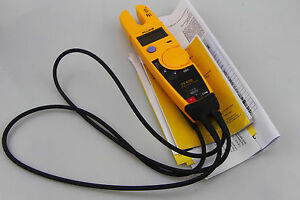 1pc New Fluke T5 600 Clamp Continuity Current Electrical Tester Clamp Meter