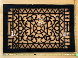 Antique Vintage Cast Iron Decorative Heat Grate Floor Register 27 X 18 Ornate