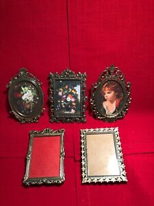 Vintage Lot Of 5 Picture Frames Made In Italy