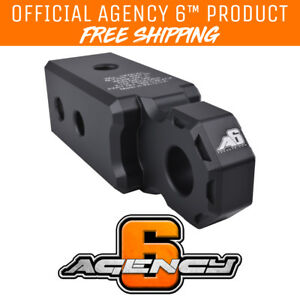 Agency 6 Recovery Shackle Block 2 5 Black Powder Coat Fits 2 5 Hitch Receiver