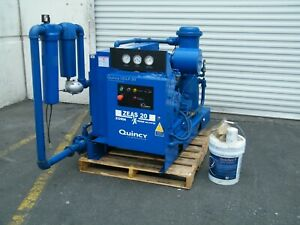2011 Quincy Qslp 20 20 Hp Low Pressure Rotary Screw Air Compressor Kaeser 172cfm