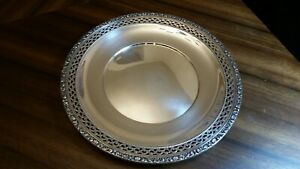 Sterling Silver Plate Charger Pierced Watson 9 L80 7 4 Ounces