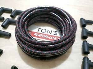 8mm Vintage Cloth Covered Spark Plug Wire Kit For Electronic Ignition Systems R