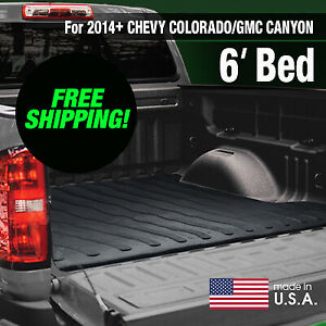 Heavy Duty 2014 Chevy Colorado gmc Canyon Rubber Bed Mat 6 Ft factory Second