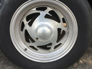 Ford Mustang Lx Gt 5 0 Aluminum Rims 4 Lug 85 93 Wheels Fox Body With Tires